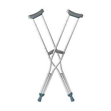 Push Button Adjustable Crutches